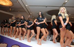 Miss Northern Ireland hopefuls meet in the Europa Hotel ahead of tonight's finals in the Belfast City Centre Hotel. (Jonathan Porter/PressEye)