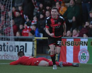 Gavin Whyte nets against Cliftonville