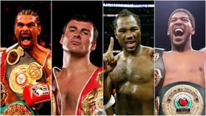 David Haye, Joe Calzaghe, Lennox Lewis and Anthony Joshua all feature in my top 10.