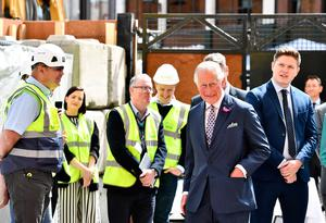 BELFAST, NORTHERN IRELAND - MAY 22: Prince Charles, Prince Of Wales during a visit to Belfast on May 22, 2019 in Belfast, Northern Ireland. The Prince of Wales and Duchess Of Cornwall attended a walkabout and visited the Primark store following the blaze which destroyed the iconic building last August. (Photo by Charles McQuillan/Getty Images)