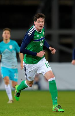 Good news: The injury picked up by Kyle Lafferty in Northern Ireland's friendly with Slovenia isn't serious
