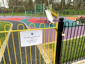 The newly refurbished Childrens play part in Ormeau Park on Wednesday March 25th. PACEMAKER BELFAST