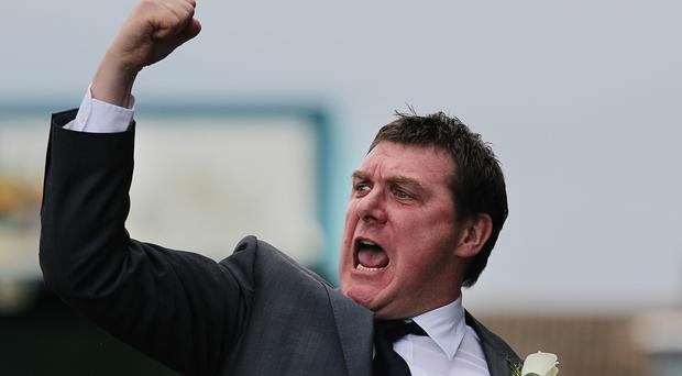 Tommy Wright during his spell in charge of Lisburn Distillery.