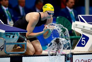 RIO DE JANEIRO, BRAZIL - AUGUST 11:  Cate Campbell of Australia prepares to compete in the Women's 100m Freestyle Final on Day 6 of the Rio 2016 Olympic Games at the Olympic Aquatics Stadium on August 11, 2016 in Rio de Janeiro, Brazil.  (Photo by Adam Pretty/Getty Images)