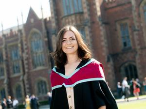Clare McNamee from Belfast graduated today with a Master of Architecture with Distinction from the School of Natural and Built Environment at Queen's University.