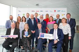 Responsible Business Awards sponsors and media partners along with Kieran Harding, Business in the Community (centre)
