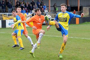 Action from Carrick Rangers v Bangor, March 29