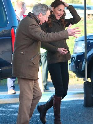 RETRANSMISSION AMENDING SPELLING OF NEWTOWNARDS The Duchess of Cambridge arrives for a visit to The Ark Open Farm, at Newtownards, near Belfast, where she is meeting with parents and grandparents to discuss their experiences of raising young children for her Early Childhood survey. PA Photo. Picture date: Wednesday February 12, 2020. See PA story ROYAL Kate. Photo credit should read: Liam McBurney/PA Wire