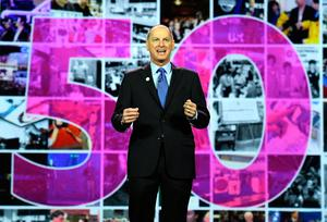 LAS VEGAS, NV - JANUARY 05:  President and CEO of the Consumer Technology Association Gary Shapiro delivers a keynote address at CES 2017 at The Venetian Las Vegas on January 5, 2017 in Las Vegas, Nevada. CES, the world's largest annual consumer technology trade show, runs through January 8 and features 3,800 exhibitors showing off their latest products and services to more than 165,000 attendees.  (Photo by Ethan Miller/Getty Images)
