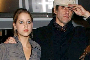 Sir Bob Geldof with his daughters Peaches (left) and Pixie, in 2002.