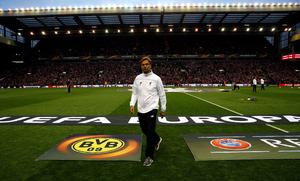 Liverpool manager Jurgen Klopp during the UEFA Europa League Quarter Final, Second Leg match at Anfield, Liverpool. PRESS ASSOCIATION Photo. Picture date: Thursday April 14, 2016. See PA story SOCCER Liverpool. Photo credit should read: Peter Byrne/PA Wire