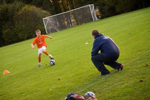 Tim Wareing passing on his wisdom to one of his young stars