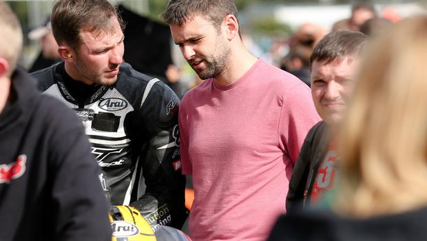 PressEye - Belfast - Northern Ireland - 10th August 2017  Dundrod 150 Gym Co Ultralightweight / Lightweight Race  Pictured: Paul Jordan and William Dunlop.  Picture: Philip Magowan / PressEye