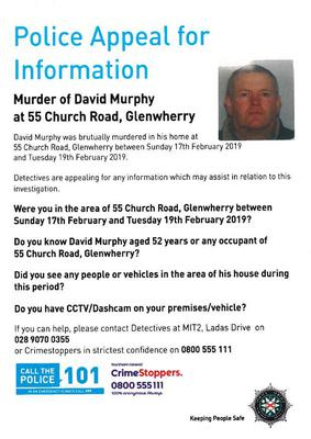 The leaflet circulated by police. Credit: PSNI.