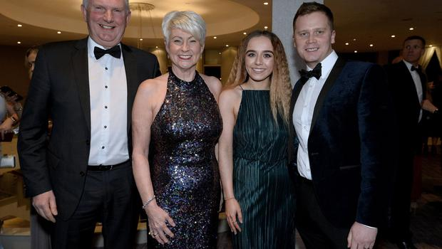 Press Eye - Belfast - Northern Ireland - 20th January  2020  Alan Graham ,Pamela Ballentine ,Rebecca McNicholls and Neil Dalzell pictured at the 2019 Belfast Telegraph Sport Awards at the Crowne Plaza Hotel in Belfast. Photo by Stephen Hamilton / Press Eye.