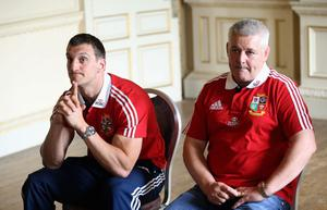 MAYNOOTH, IRELAND - MAY 20:  Warren Gatland (R) the Lions head coach and Sam Warburton, the Lions captain face the media during the British and Irish Lions media session held at Carton House on May 20, 2013 in Maynooth, Ireland.  (Photo by David Rogers/Getty Images)