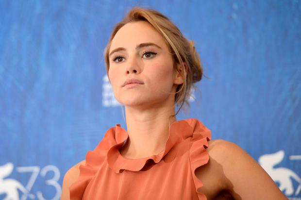 "Actress Suki Waterhouse attends the photocall of the movie ""The Bad Batch"" presented in competition at the 73rd Venice Film Festival on September 6, 2016 at Venice Lido.FILIPPO MONTEFORTE/AFP/Getty Images"