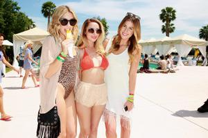 THERMAL, CA - APRIL 13:  Guests attend LACOSTE L!VE Desert Pool Party In Celebration Of Coachella on April 13, 2013 in Thermal, California.  (Photo by Joe Scarnici/Getty Images for LACOSTE)