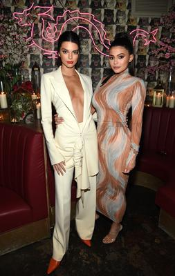 (L-R) Kendall Jenner and Kylie Jenner (Photo by Dimitrios Kambouris/Getty Images for The Business of Fashion)