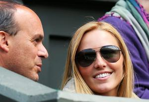 LONDON, ENGLAND - JUNE 25:  Jelena Ristic, the girlfriend of Novak Djokovic of Serbia watches his Gentlemen's Singles first round match against Florian Mayer of Germany on day two of the Wimbledon Lawn Tennis Championships at the All England Lawn Tennis and Croquet Club on June 25, 2013 in London, England.  (Photo by Julian Finney/Getty Images)