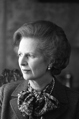 LONDON, ENGLAND - APRIL 1:  (FILE PHOTO)  Baroness Margaret Thatcher, 85, Britain's Prime Minister from 1979 to 1990, Reports on April 8, 2013 state that Baroness Thatcher has died following a stroke..  British Prime Minister Margaret Thatcher poses inside Number 10 Downing Street in London, England on April 01, 1984. (Photo by Express/Getty Images)