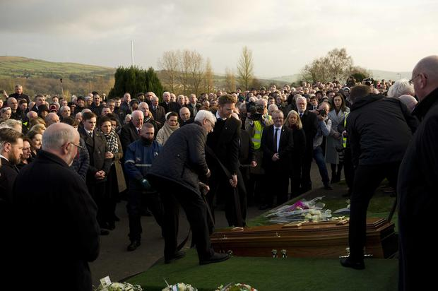 Funeral of former Sinn Fein leader and deputy First Minister Martin McGuinness in the Bogside in Derry. Photo Mark Marlow/Pacemaker Press