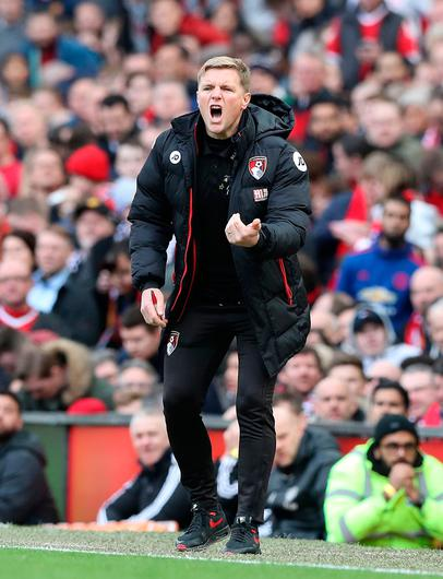 Big shout: Eddie Howe looks set to be named new Celtic boss