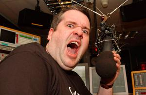 Chris on his first day at Radio One