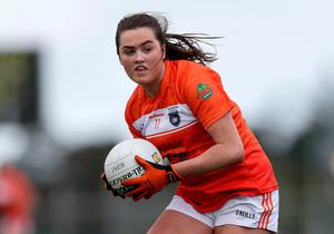 Fine fettle: Aimee Mackin has been in top form for the Armagh ladies