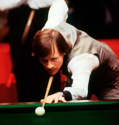 On cue: Alex Higgins in action during the 1980s