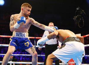 28th February 2015   ?William Cherry/Presseye  Carl Frampton with Chris Avalos in Saturday nights IBF super-bantamweight World title fight at the Odyssey Arena, Belfast