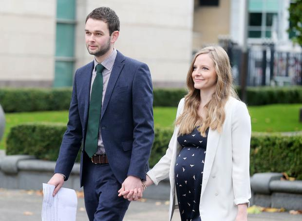 "Judgement due on 'gay cake' appeal for Ashers Bakery.  Two years ago, the family-run firm refused to make a cake for gay rights activist Gareth Lee with the slogan ""Support Gay Marriage"" leading to a judge ruling the Christian owners of Ashers had discriminated against him. Daniel McArthur of Ashers and his wife Amy arrive at the High Court in Belfast to hear the appeal.  Picture by Jonathan Porter/Press Eye"