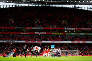 LONDON, ENGLAND - APRIL 21:  Empty seats are seen in the stands ahead of kick off prior to the Barclays Premier League match between Arsenal and West Bromwich Albion at the Emirates Stadium on April 21, 2016 in London, England.  (Photo by Paul Gilham/Getty Images)