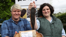 Ilse and Alanagh with their award-winning Biltong product