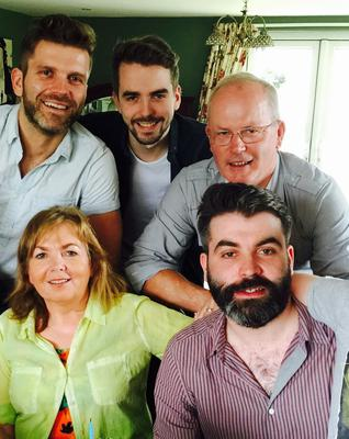 (L-R) Vinny Hurrell with mum Jean, brother Patrick, dad Donal and brother Donal