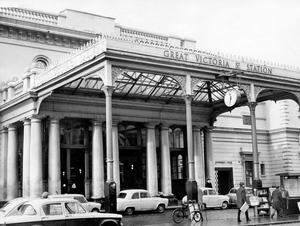 The old Great Victoria Street Station, a terminal with atmosphere.  1967