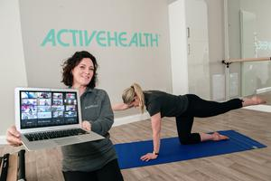 Rachel Saligari of Active Health is pictured with Claire Bannerman, physiotherapist and pilates instructor