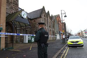 It took more than 50 firefighters to get the blaze at the Belfast Multi-Cultural Association (BMCA) centre on Donegall Pass under control .Photo Stephen Davison/Pacemaker Press