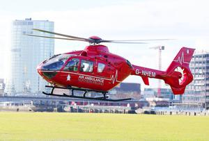Press Eye Belfast - Northern Ireland 9th November 2016  One of the two helicopters which will deliver Northern IrelandÄôs first ever Helicopter Emergency Medical Service (HEMS) is in Northern Ireland for a three-day flying visit.     Picture by Jonathan Porter/Press Eye
