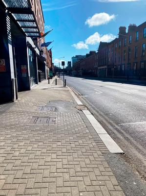 Handout photo taken with permission from the Twitter feed of @Daleyfurter showing an empty street in the Merrion Square area of Dublin, after new coronavirus restrictions on public life in Ireland were put into place. Dale Whelehan/PA Wire