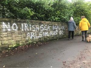 Some within loyalism blame the DUP for delivering a Brexit that includes an Irish Sea border (Rebecca Black/PA)