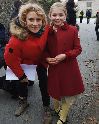 Aoibhine McFlynn (11) with director Jessica Swale