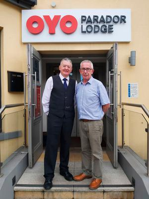 The Oyo Parador Lodge's manager Peter Murray with owner Paul Blaney
