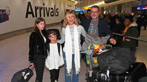 Kate Garraway with her husband and two children (Steve Parsons/PA)