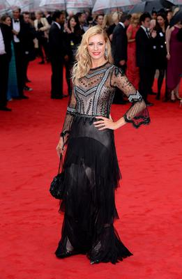 Tess Daly arriving for the 2013 Arqiva British Academy Television Awards at the Royal Festival Hall, London. PRESS ASSOCIATION Photo. Picture date: Sunday May 12, 2013. See PA story SHOWBIZ Bafta. Photo credit should read: Dominic Lipinski/PA Wire
