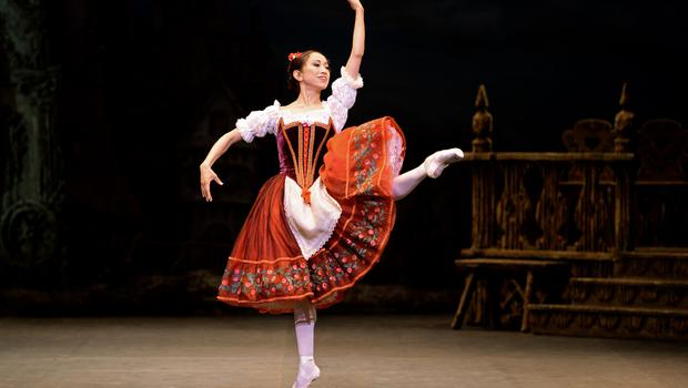Erina Takahashi plays the role of Swanilda during a dress rehearsal for the English National Ballet's Coppelia (Anthony Devlin/PA)