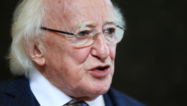 Michael D Higgins used the speech to stress the urgent need to move the stalled peace deal from the 'hard shoulder' (Brian Lawless/PA)