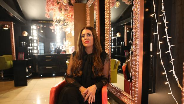 Hair Stylist Keris Weir at her salon in Lurgan.  Photo by Peter Morrison