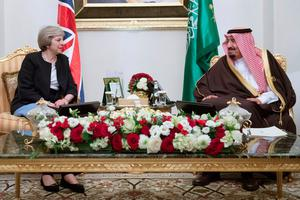 Prime Minister Theresa May meets King Salman bin Abdulaziz al Saud of Saudi Arabia in Manama, Bahrain, where she is on a three day visit to attend the Gulf Cooperation Council summit. PA