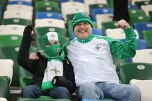Press Eye - Belfast - Northern Ireland - 12th November 2020  European Championship 2020.  Playoff for Final Tournament - Northern Ireland Vs Slovakia at The National Stadium at Windsor Park, Belfast.  Northern Ireland fans at the game.   Picture by Jonathan Porter/PressEye